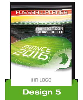 EM 2016 Fussballplaner bedrucken